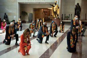politicians kneeling